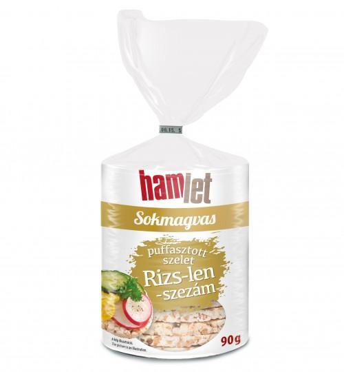 HAMLET RIZS-LEN-SZEZÁM SZELET 90G