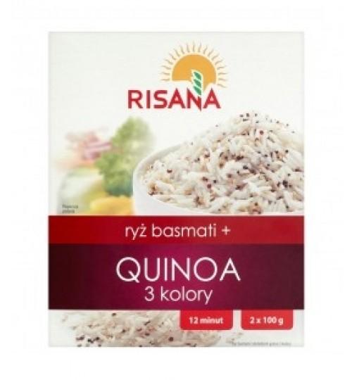 RISANA BASMATI RIZS 3-SZÍNŰ QUINOA 2X100G