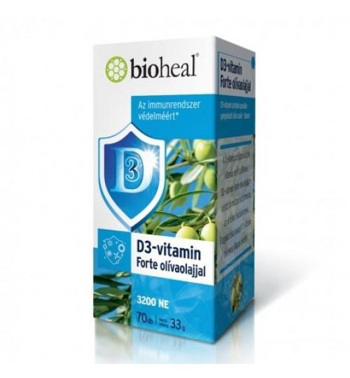 BIOHEAL D3-VITAMIN FORTE OLÍVAOLAJJAL 70db