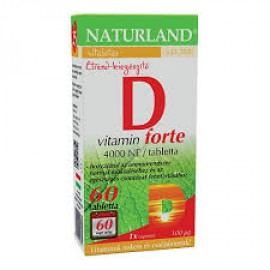 NATURLAND D-VITAMIN FORTE TABLETTA