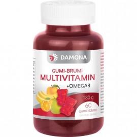 DAMONA GUMI-BRUMI MULTIVITAMIN+OMEGA3 GUMITABLETTA