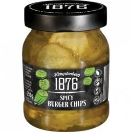 GLUTÉNMENTES HENGSTENBERG 1876 SPICY BURGER CHIPS 250G
