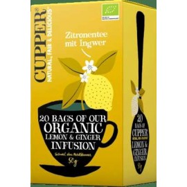 BIO CUPPER ORGANIC LEMON-GINGER TEA  20DB