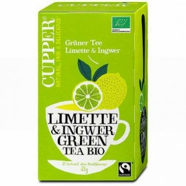BIO CUPPER ORGANIC GREEN TEA LIME-GINGER   20DB