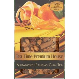 TEA TIME PRÉMIUM HOUSE NARANCSÍZŰ FAHÉJAS CHAI TEA 100G