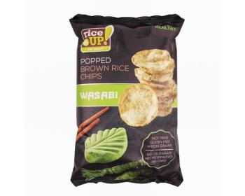 GLUTÉNMENTES RICE UP CHIPS WASABI ÍZŰ 60G