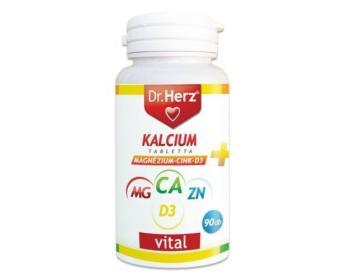 DR.HERZ KALCIUM+MAGNEZIUM+CINK+D3 TABLETTA 90db